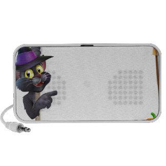 Muestra del gato negro de Halloween Mp3 Altavoces
