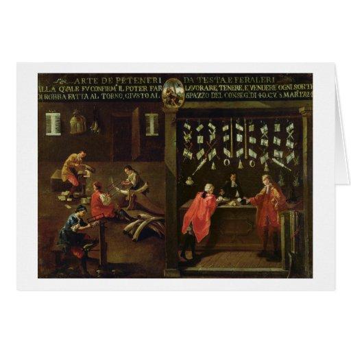 Muestra del gremio de los fabricantes venecianos d tarjeta de felicitación