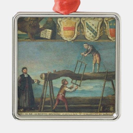 Muestra del gremio de los trabajadores venecianos ornaments para arbol de navidad