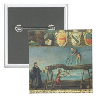 Muestra del gremio de los trabajadores venecianos  pin cuadrada 5 cm