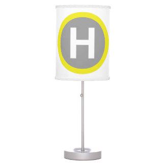 Muestra del helipuerto lámpara de mesa