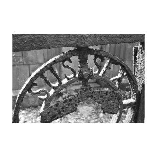 """Muestra del hierro labrado de """"Sussex"""" Impresión En Lienzo"""