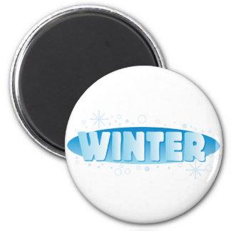 Muestra del invierno imán redondo 5 cm