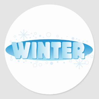Muestra del invierno pegatina redonda