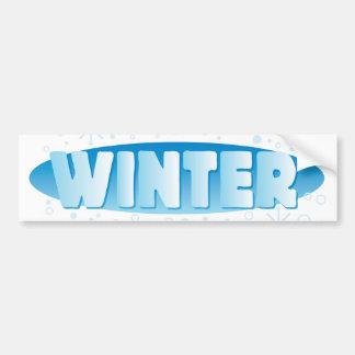 Muestra del invierno pegatina de parachoque