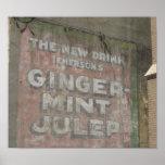 Muestra del Julep de la Jengibre-Menta Poster