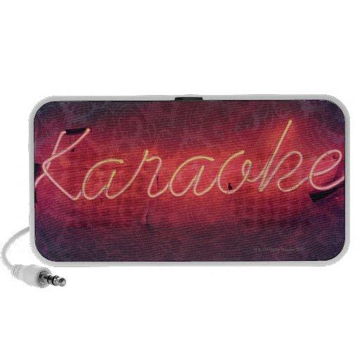 Muestra del Karaoke Laptop Altavoces