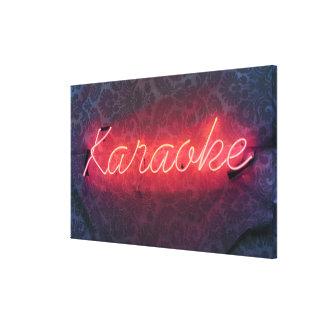 Muestra del Karaoke Impresiones En Lona Estiradas