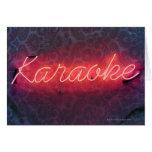 Muestra del Karaoke Tarjeta De Felicitación