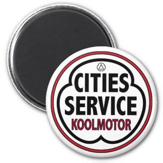 Muestra del koolmotor del servicio de las ciudades imán de nevera