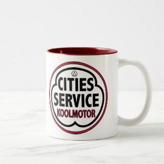 Muestra del koolmotor del servicio de las ciudades tazas