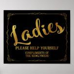 Muestra del lavabo de los señores - muestra de la póster