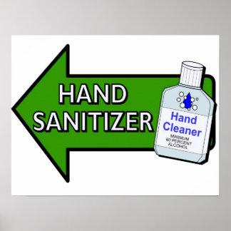 Muestra del lavabo del desinfectante de la mano impresiones