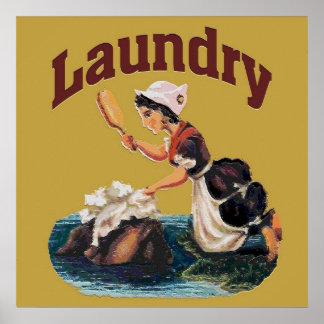 Muestra del lavadero póster