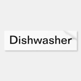 Muestra del lavaplatos pegatina de parachoque