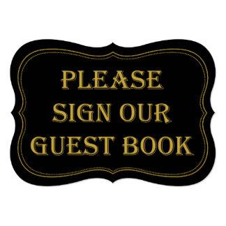 """Muestra del libro de visitas del boda de Gatsby de Invitación 5"""" X 7"""""""
