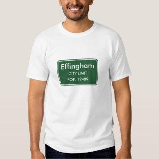 Muestra del límite de ciudad de Effingham Illinois Playera