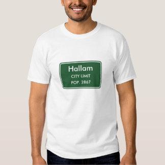Muestra del límite de ciudad de Hallam Playeras