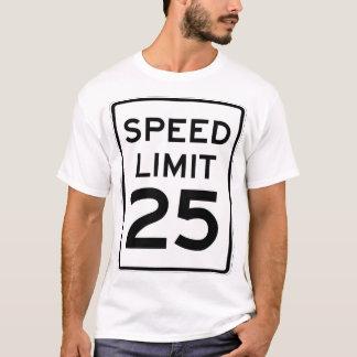 Muestra del límite de velocidad 25mph - doble la playera