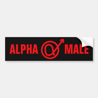 Muestra del macho alfa pegatina para auto