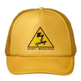 Muestra del masaje del cuerpo gorra