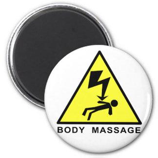 Muestra del masaje del cuerpo imán redondo 5 cm