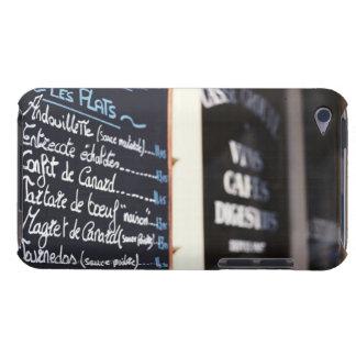 Muestra del menú fuera de un café en Burdeos, Fran Barely There iPod Carcasa