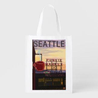 Muestra del mercado del lugar de SeattlePike y Bolsas De La Compra