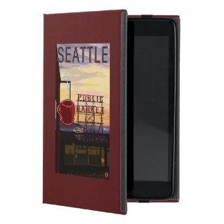 Muestra del mercado del lugar de SeattlePike y iPad Mini Carcasas