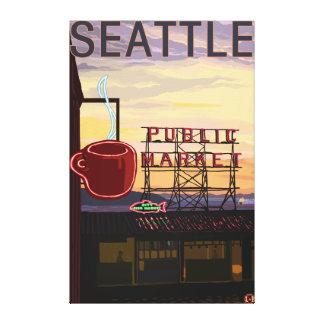 Muestra del mercado del lugar de SeattlePike y opi Impresion De Lienzo
