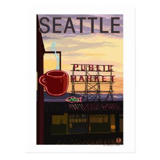 Muestra del mercado del lugar de SeattlePike y Tarjetas Postales