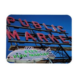 Muestra del mercado público del lugar de Pike Imán De Vinilo