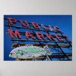 Muestra del mercado público del lugar de Pike Póster