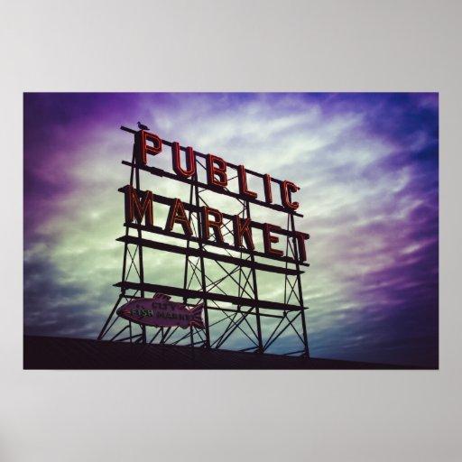 muestra del mercado público impresiones