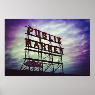 muestra del mercado público póster