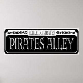 Muestra del metal del callejón de los piratas poster