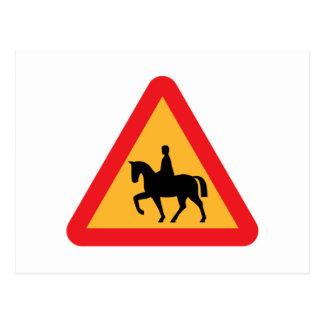 Muestra del montar a caballo tarjeta postal