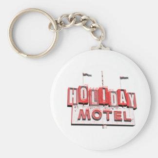 Muestra del motel de Hollywood del vintage Llavero Redondo Tipo Pin