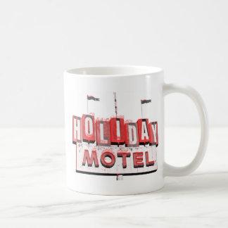 Muestra del motel de Hollywood del vintage Taza Básica Blanca