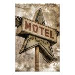 Muestra del motel de la estrella del Grunge del Papeleria De Diseño