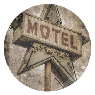 Muestra del motel de la estrella del Grunge del Plato De Cena