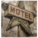 Muestra del motel de la estrella del Grunge del Servilletas