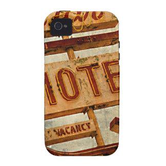 Muestra del motel de la estrella del vintage vibe iPhone 4 carcasas