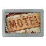Muestra del motel de la estrella del vintage hebilla de cinturón rectangular
