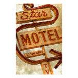 Muestra del motel de la estrella del vintage papeleria de diseño