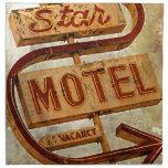 Muestra del motel de la estrella del vintage servilletas de papel