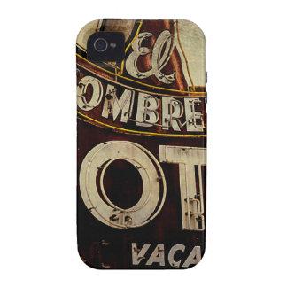 Muestra del motel del sombrero del EL del vintage iPhone 4 Fundas