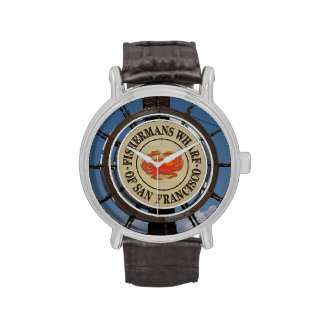 Muestra del muelle del pescador reloj de mano