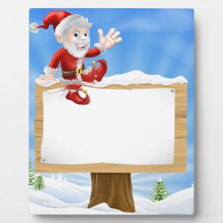 Muestra del navidad de Santa del dibujo animado Placas De Madera