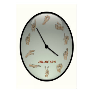 muestra del número uno de jail-art.com tarjetas de visita grandes